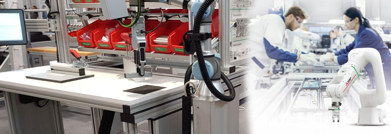 Cobots provide support at manual workstations