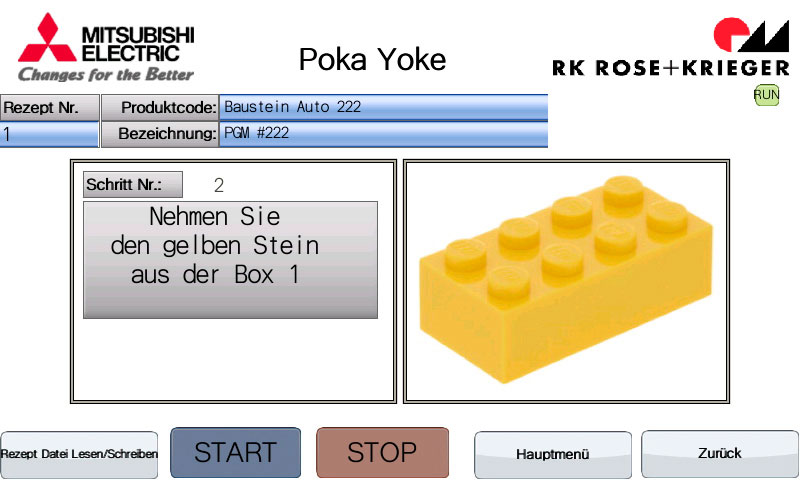 Instructions can be displayed on the screen in the form of text or images