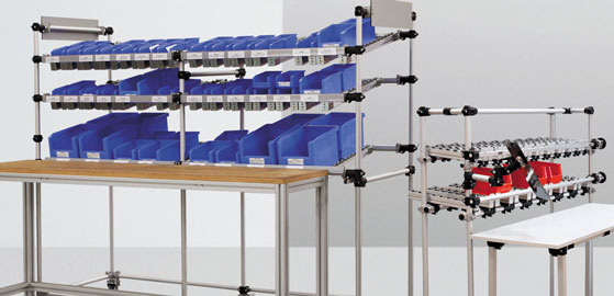 Transport trolley, material trolley, kanban systems