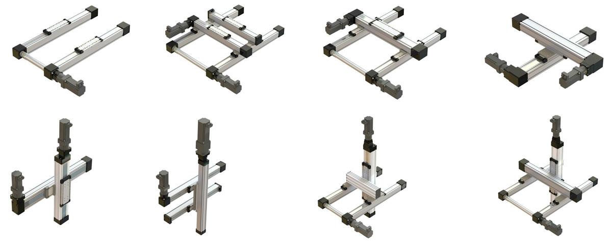 Beispiele für Mehrachsysteme