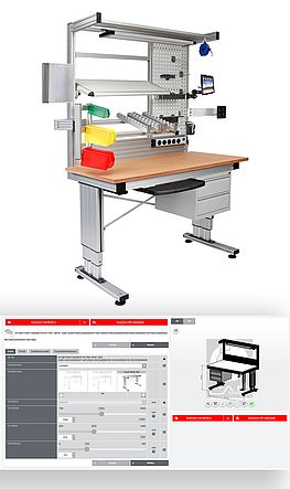 RK Easywork – height-adjustable workbenches