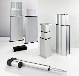 Lifting columns and electric cylinders
