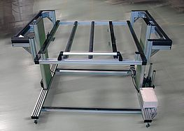 height-adjustable assembly trolley