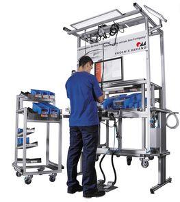 LEAN-Arbeitsplätze sind ergonomisch gestaltet und individuell auf den Prozess abgestimmt.